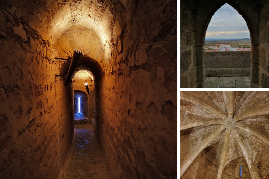 Interior de la Torre del Homenaje de Olivenza