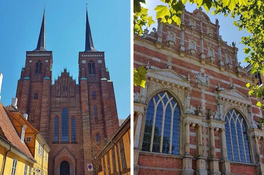 vistas exteriores de la Catedral de Roskilde