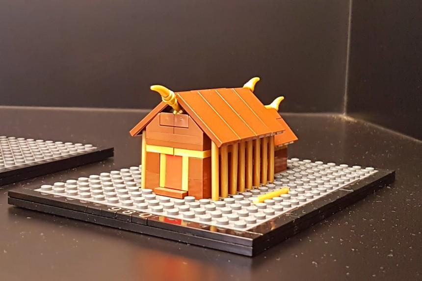 modelo en LEGO de la primitiva catedral de Roskilde