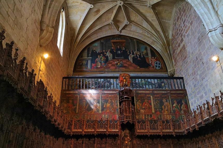 coro de Santa María la Real en Nájera