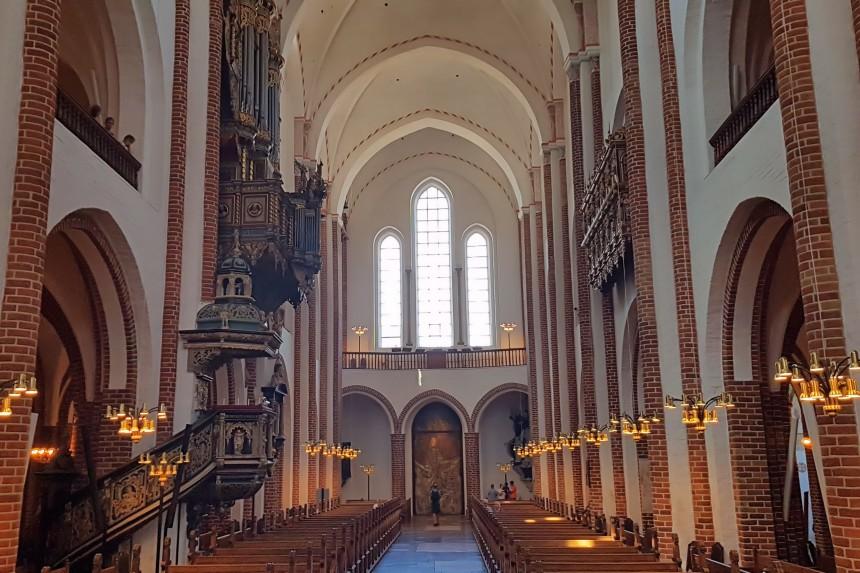 interior de la Catedral de Roskilde