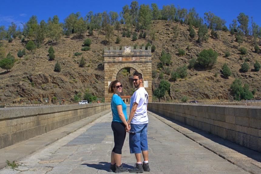 mapaymochila en el Puente Romano de Alcánatara