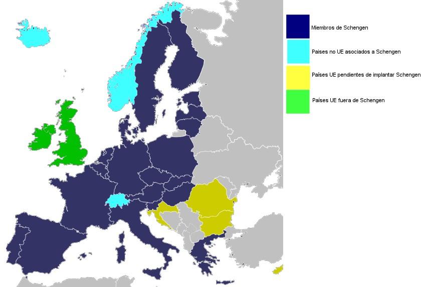 Países miembros de Schengen