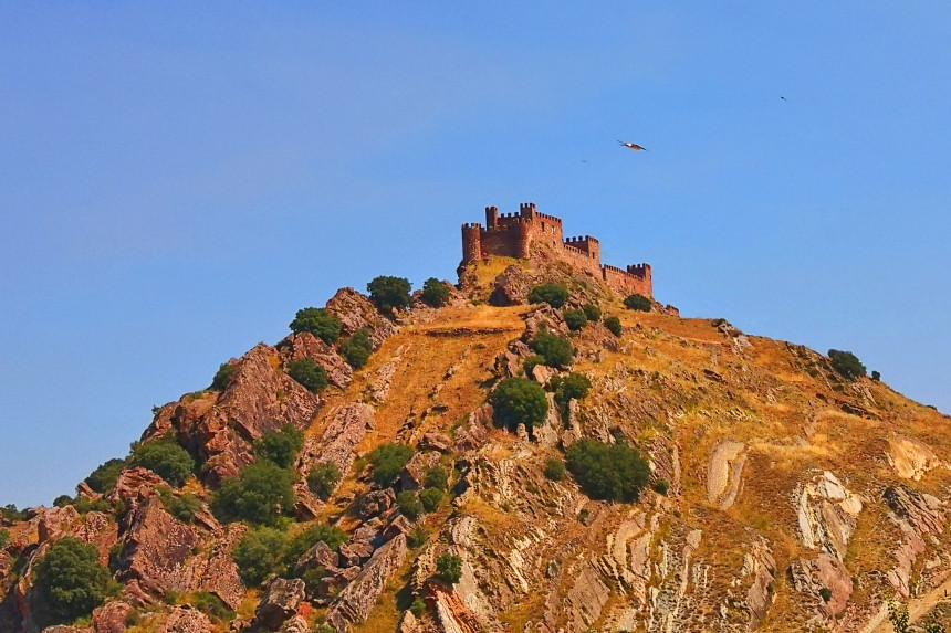 Vistas del Castillo de Riba de Santiuste