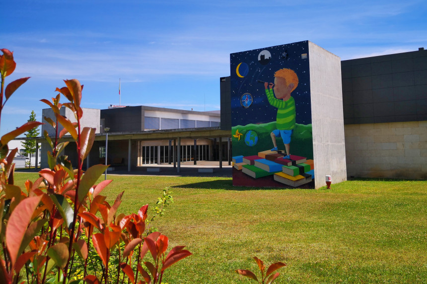 """mural """"Hacia el norte y más allá"""""""