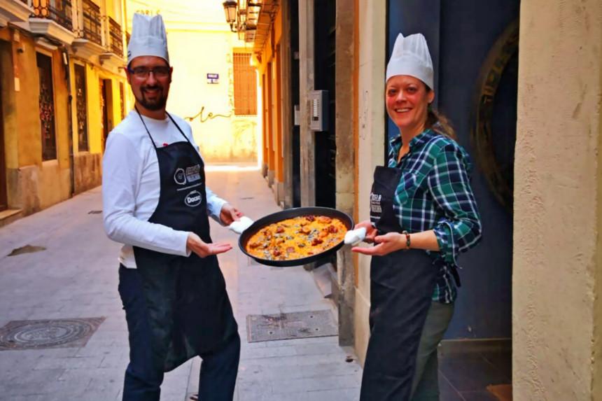 como hacer una paella valenciana