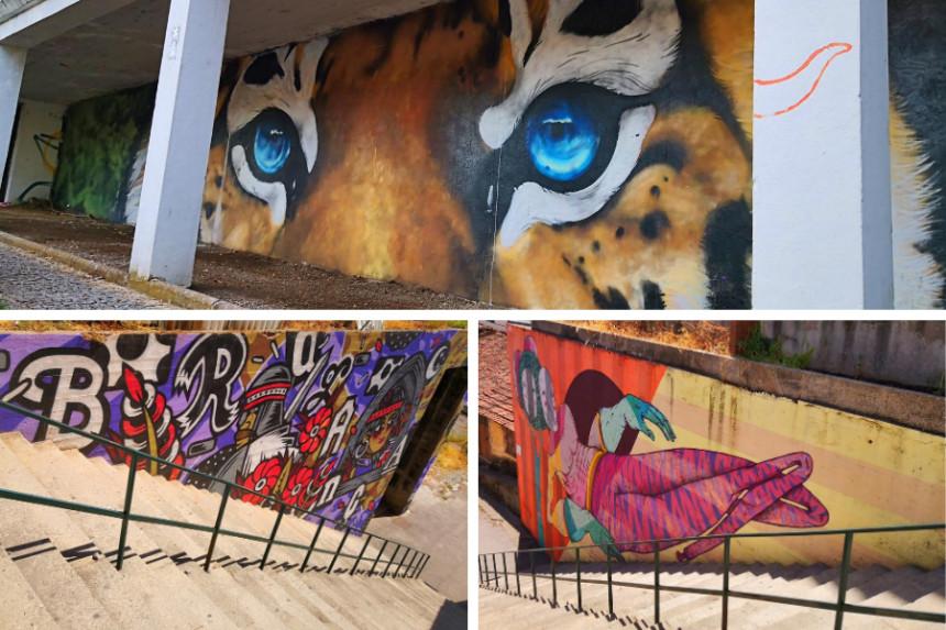 ejemplos de street art en Bragança