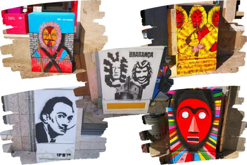 muestras de street art en pequeño formato en Braganza