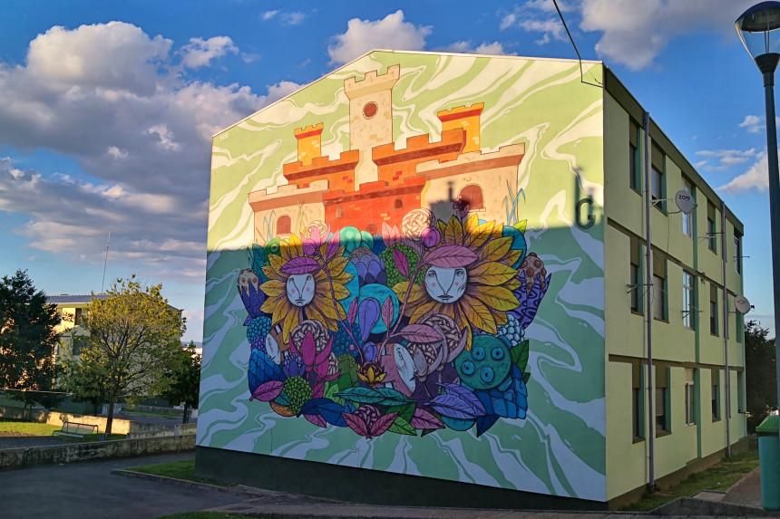 mural de street art en Bragança