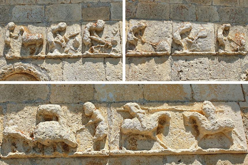 calencario medieval de Campisábalos, joya del arte románico rural de Guadalajara