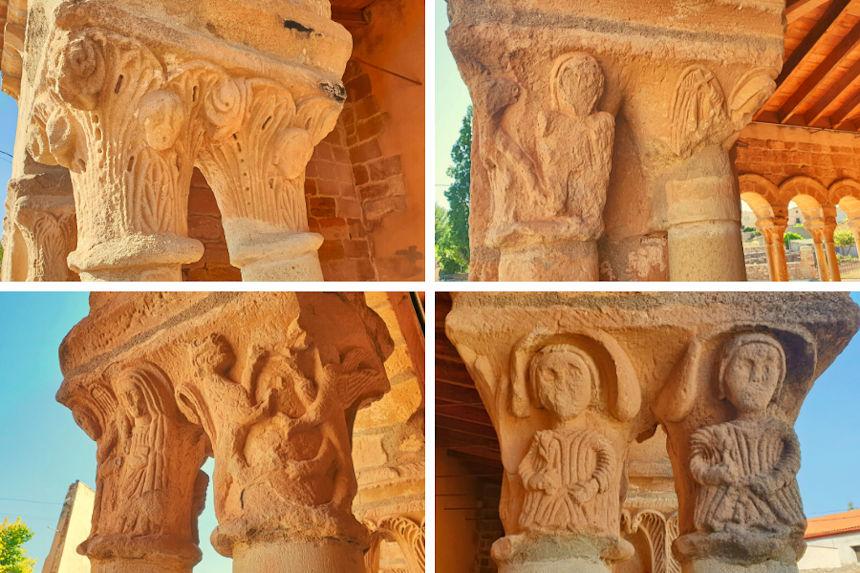 capiteles de la iglesia de Nuestra Señora de la Asunción de Saúca