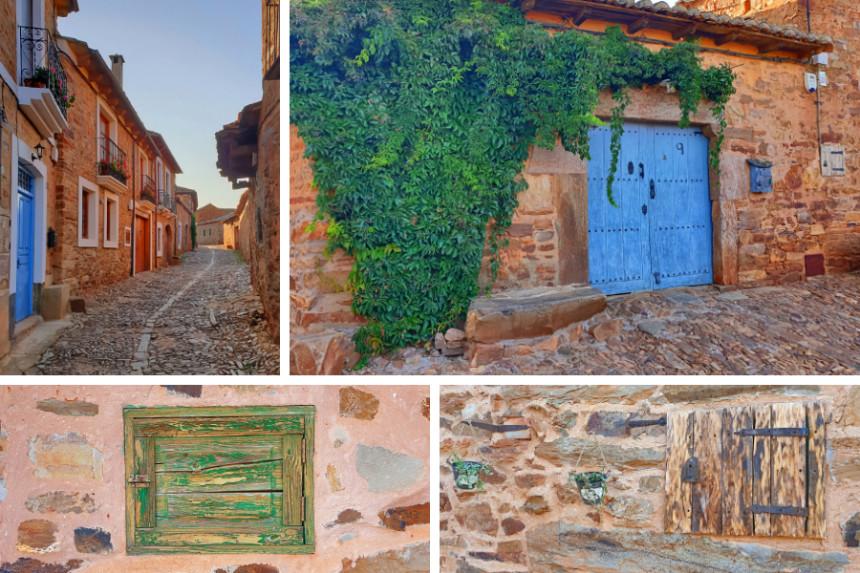 detalles de las casas de Castrillo