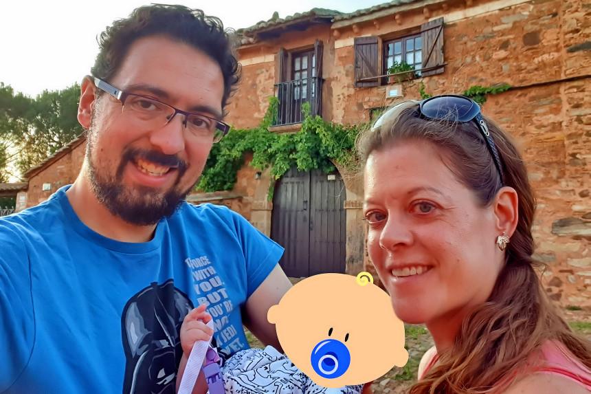 mapa y mochila en Castrillo