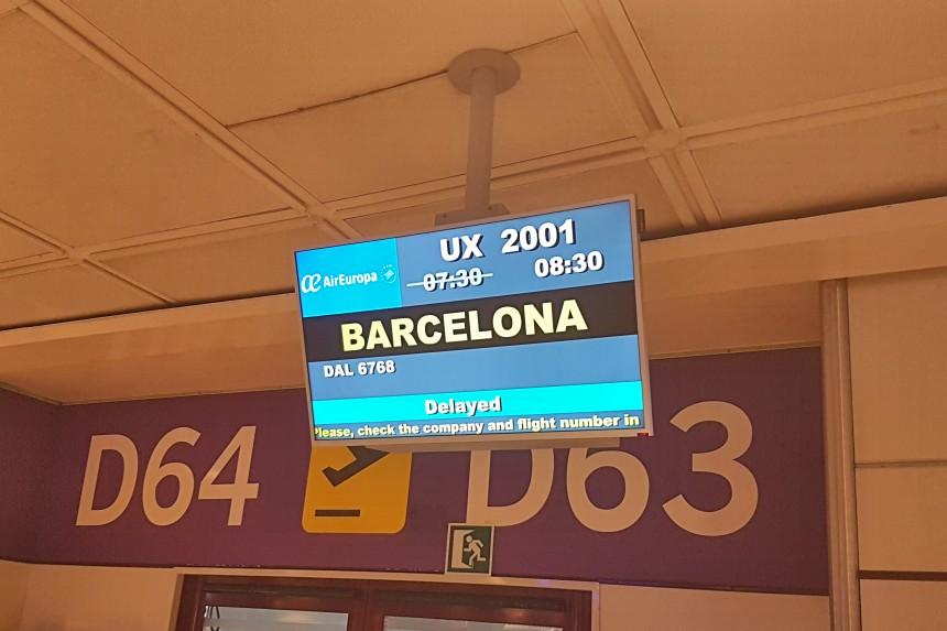 retraso vuelo Barcelona