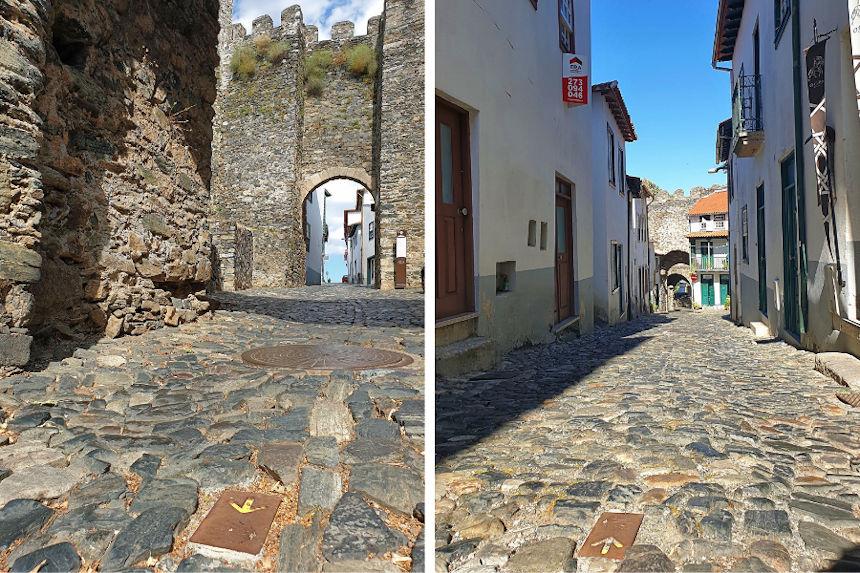 Camino de Santiago a su paso por la ciudadela amurallada de Braganza