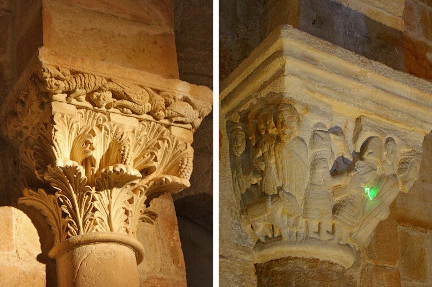 Capiteles de la Ermita de Santa Cecilia