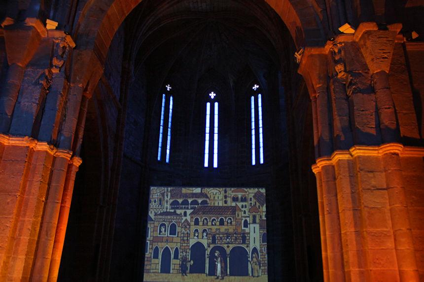 audiovisual en el Museo del Románico (ROM) de Aguilar de Campoo