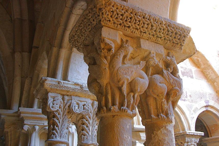 capiteles románicos del Monasterio de Santa María la Real