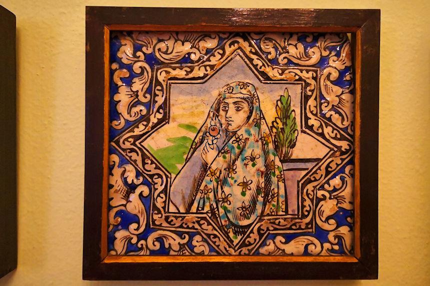 cerámica persa del museo Quiñones de León