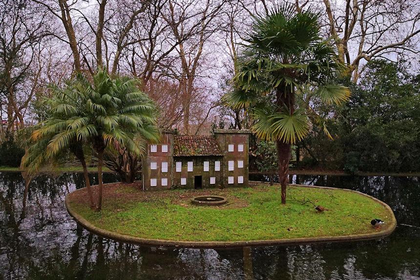 jardín inglés del pazo de Castrelos