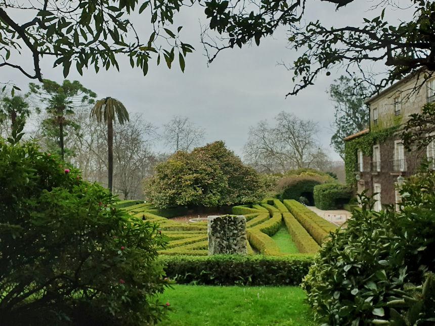laberinto de los jardines del pazo de Castrelos
