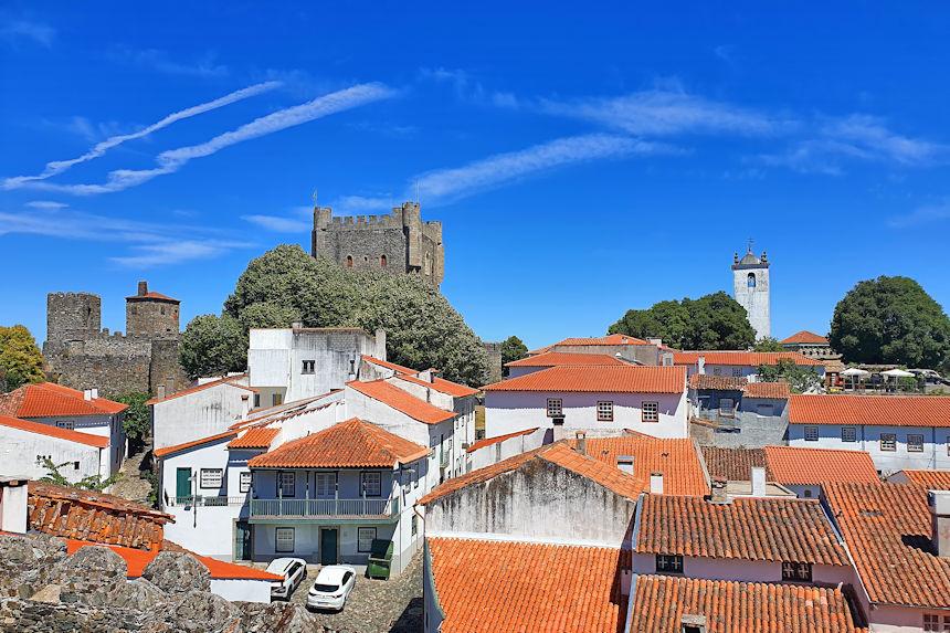 vistas de la ciudadela de Bragança desde la muralla