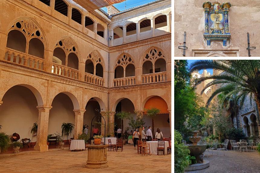 claustro gótico de la Hospedería del Real Monasterio