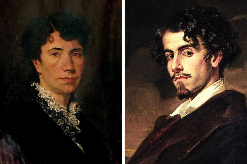 Gustavo Adolfo Bécquer y Rosalía de Castro