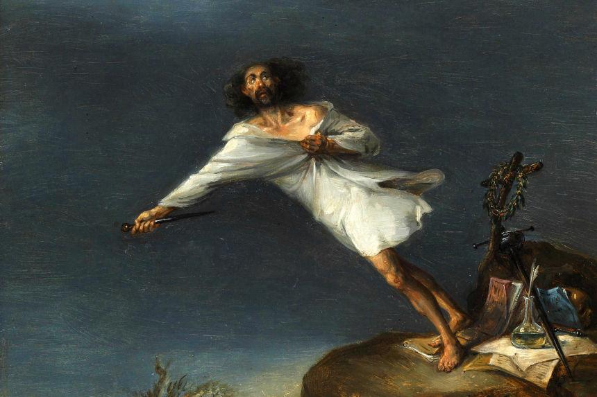 Sátira del Suicidio Romántico de Leonardo Alenza