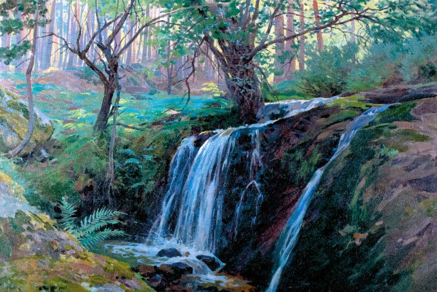 Cascada de la Hiruela, de Enrique Simonet