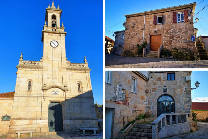 Iglesia y antiguo hospital de peregrinos (casa parroquial) de San Breixo de Seixalbo