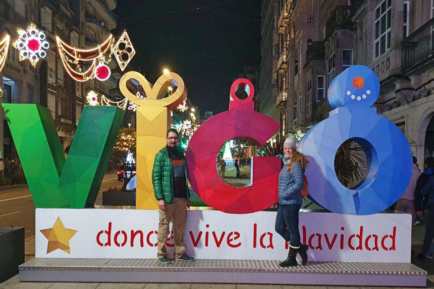 mapaymochila en Vigo, dónde vive la Navidad