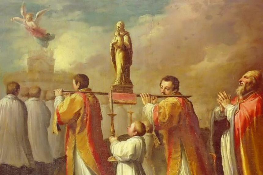 procesión de San Gregorio Magno