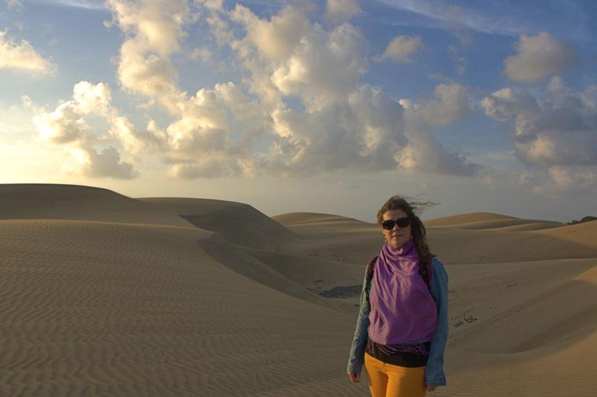 senderos en las dunas de Maspalomas