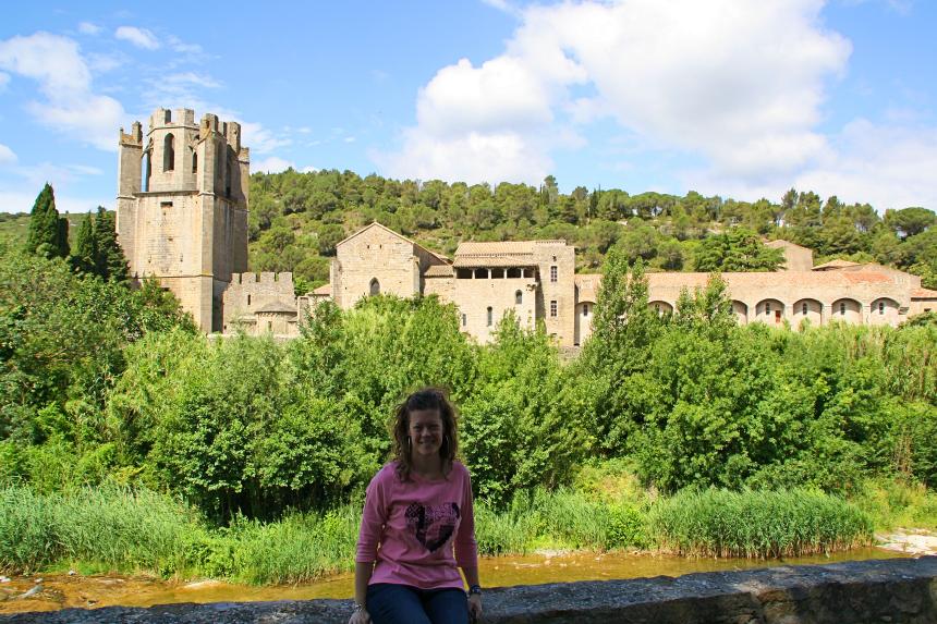 Abadía de Lagrasse en el sur de Francia