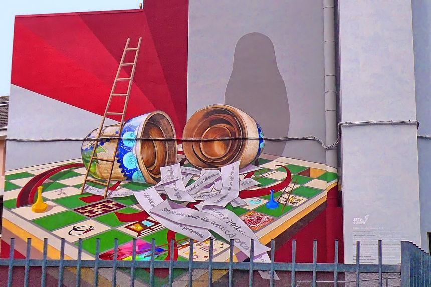 mural UZTA-La Cosecha