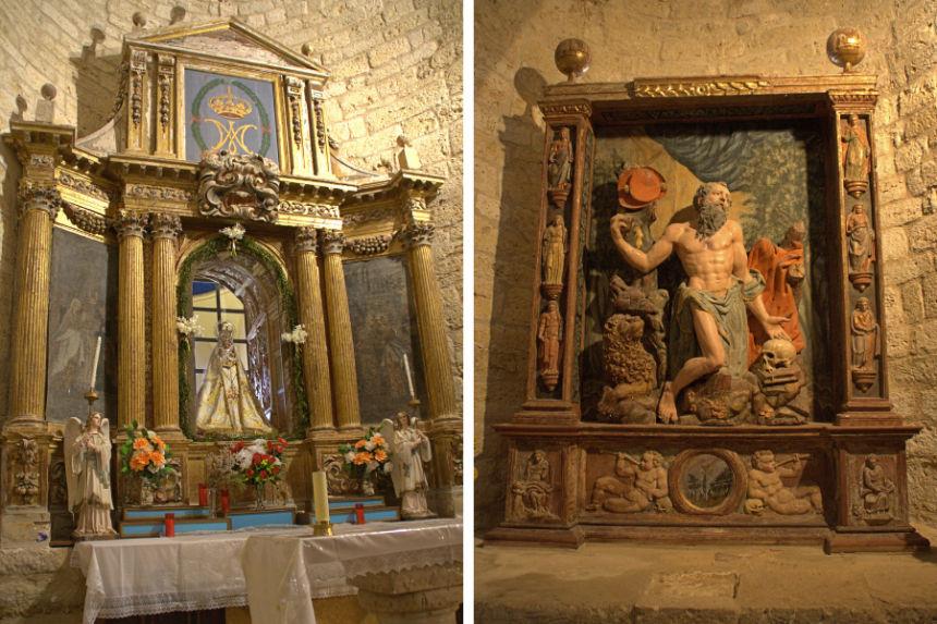 interior de la ermita de la Anunciada