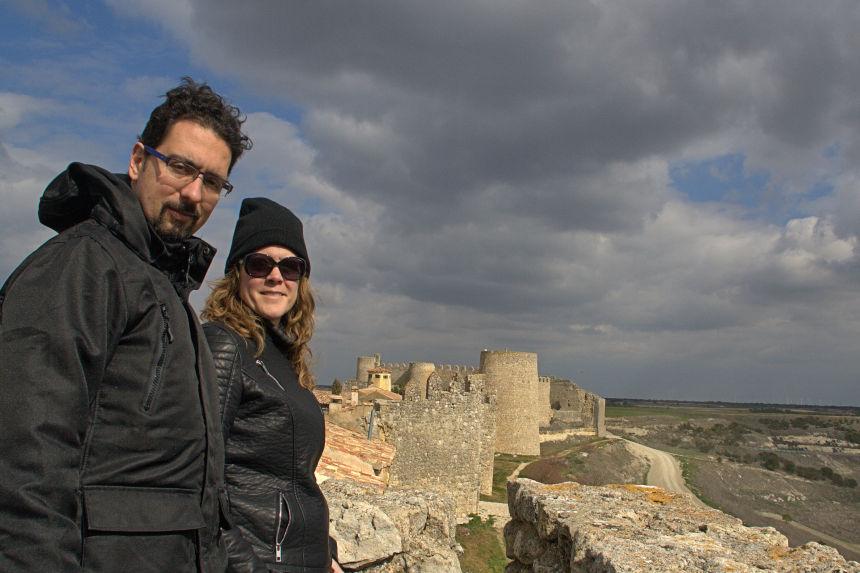 mapaymochila en las murallas de Urueña