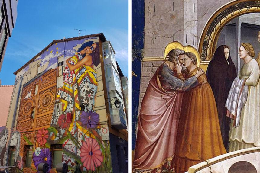"""Mural """"Cubiertos de cielo y estrellas"""""""