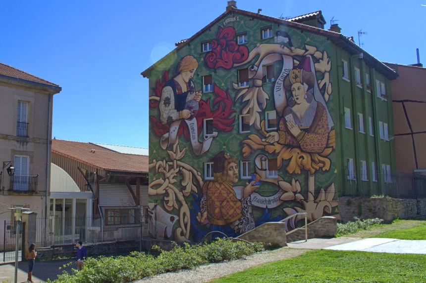 "mural ""El triunfo de Vitoria"""