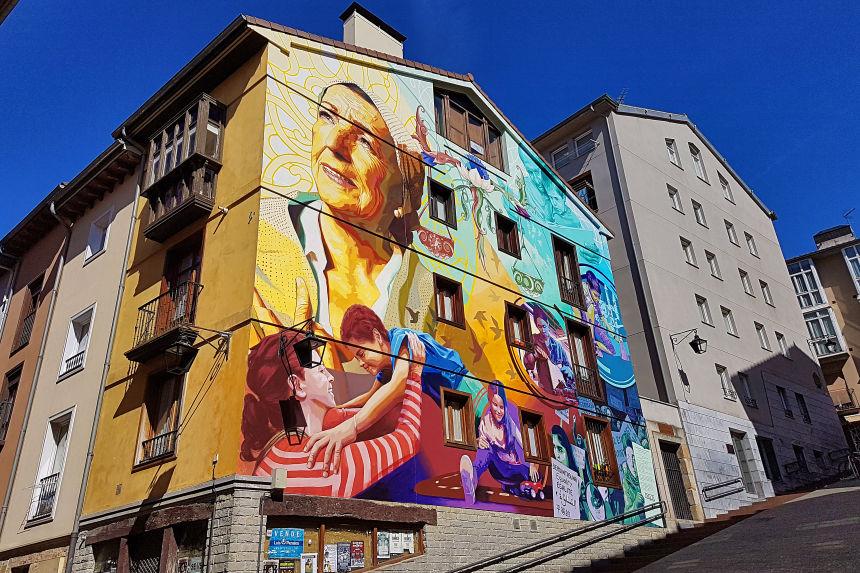 """Murales de Vitoria, Mural """"La Luz de la Esperanza"""""""