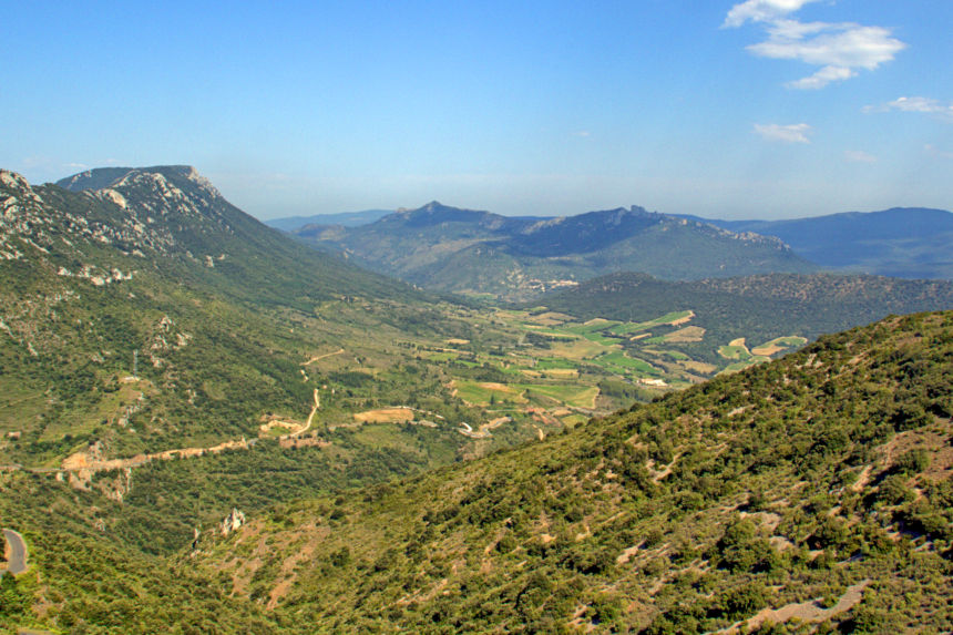 Vista del castillo de Peyrepertuse
