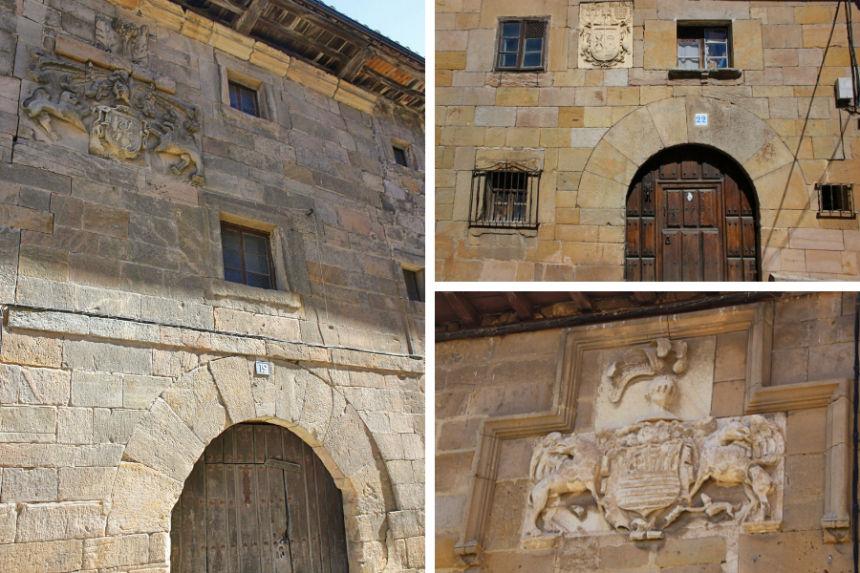 casonas y escudos nobiliarios de Aguilar de Campoo
