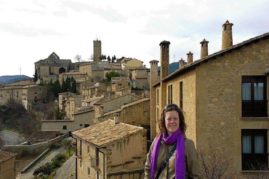 vista del castillo de Sos