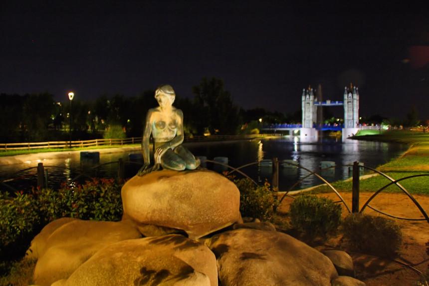Parque Europa de noche