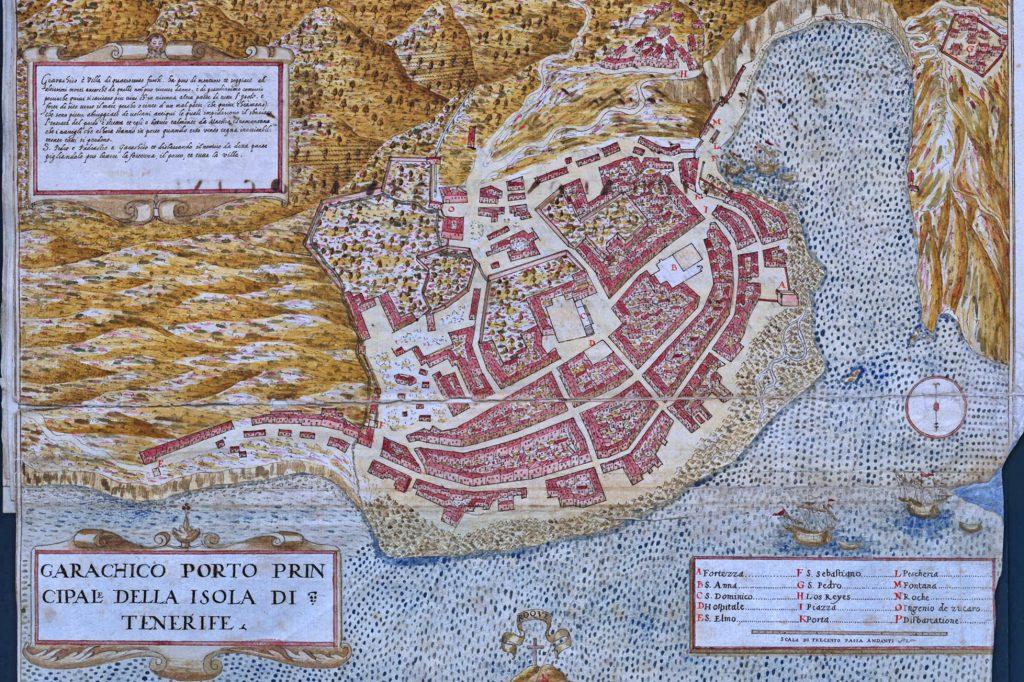 mapa antiguo de Garachico