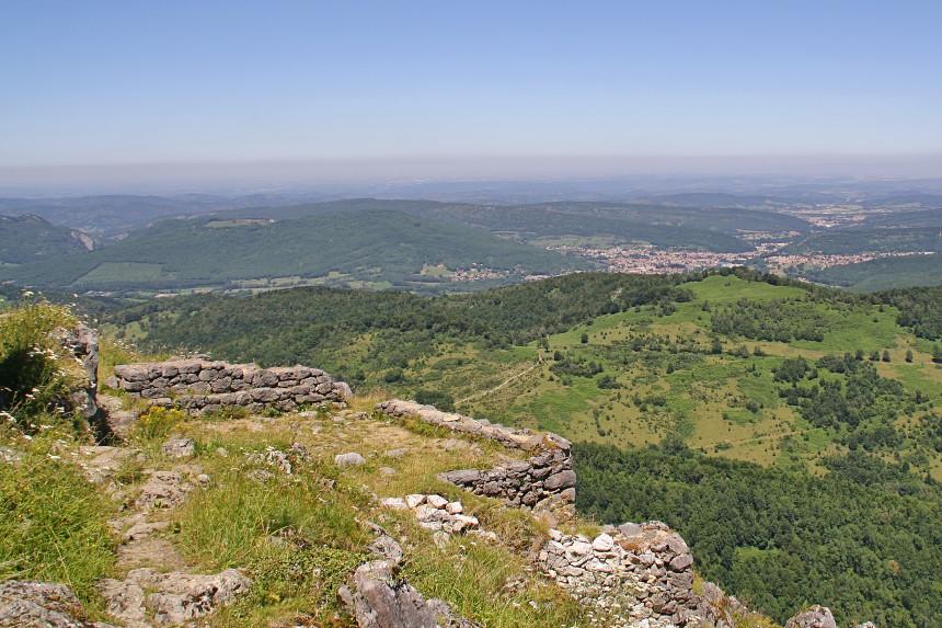 restos del pueblo medieval fortificado de Montségur