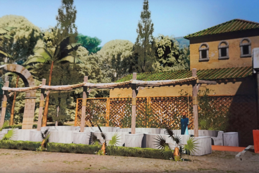 recreación del Jardín Oriental