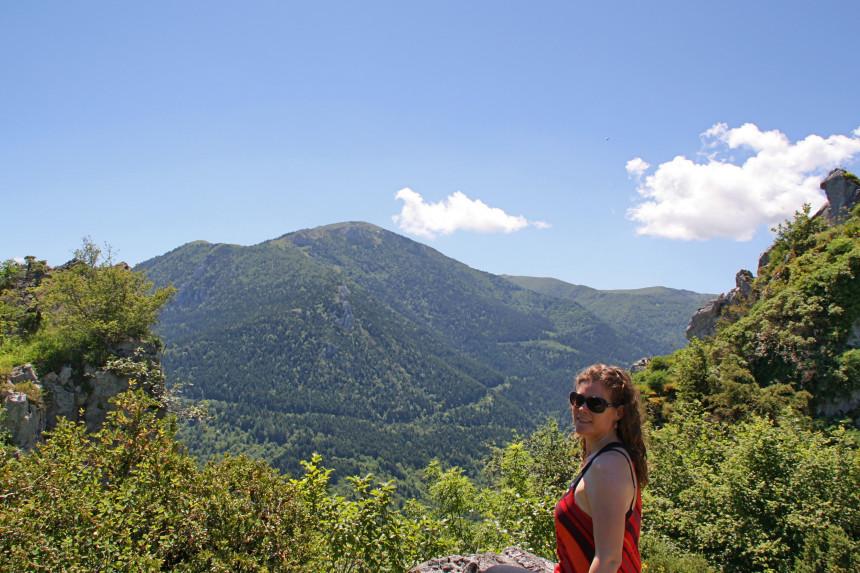 vistas desde el pog de Montségur