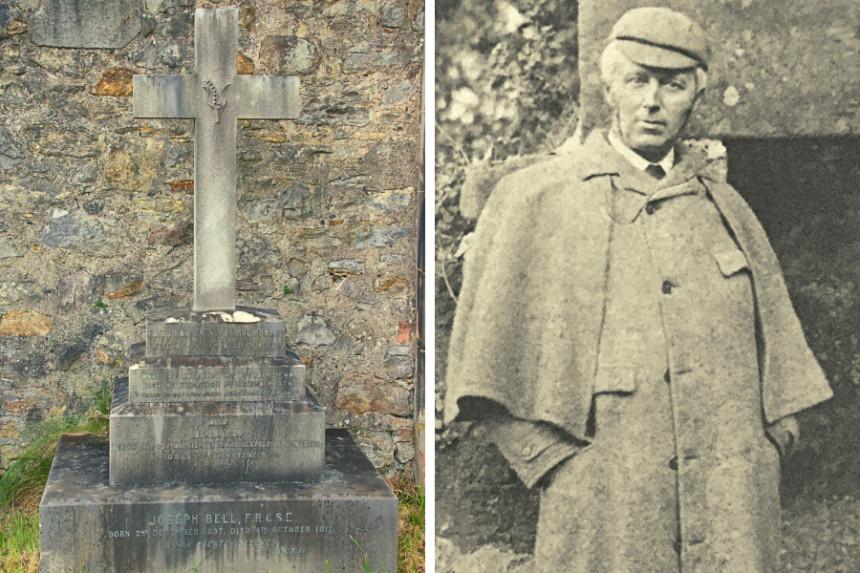 El doctor Joseph Bell y su tumba en Dean Cementery, el auténtico Sherlock Holmes